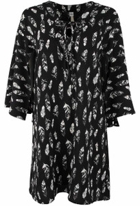 Uncle Frank Lace Up Feather Tunic - Front