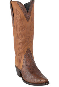 Stallion Women's Antique Saddle Full-Quill Ostrich Triad Boots - Hero