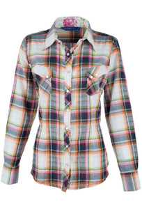 Georg Roth Pink Plaid Snap Shirt - Front