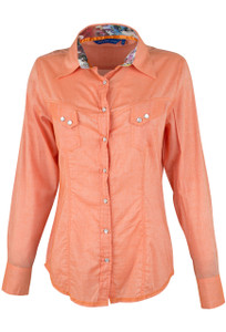 Georg Roth Solid Orange Snap Shirt - Front