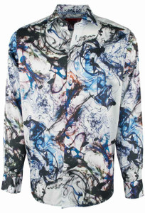 Georg Roth White with Blue Smoke Shirt - Front