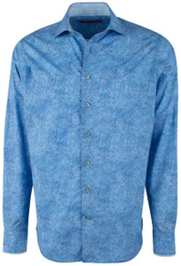Georg Roth Blue Water Color Brush Shirt - Front