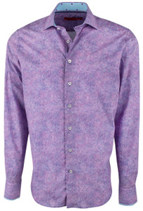 Georg Roth Purple Watercolor Brush Shirt - Front