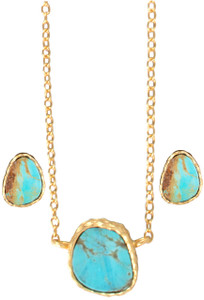 Christina Greene Turquoise Earring and Necklace Gift Set - Detail
