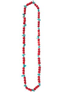 Rhed Lucy Red Coral and Turquoise Necklace