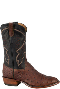 Rios of Mercedes Men's Sienna Lux Full-Quill Ostrich Boots - Side