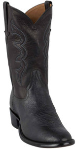 Rios of Mercedes Men's Black Smooth Ostrich Boots