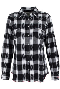 Ryan Michael Ikat Gingham Plaid Shirt - Front