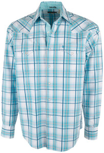 Stetson Blue Springs Satin Plaid Snap Shirt - Front
