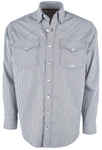 Miller Ranch Navy Stripe Button-Up Shirt - Front
