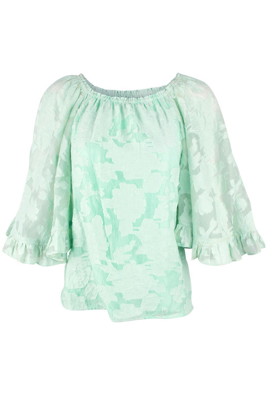 Alberto Makali Floral Burnout Off-The-Shoulder Top - Front