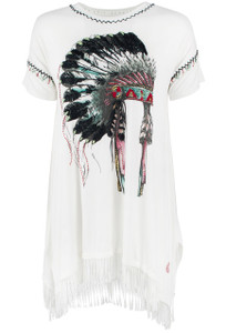 Double D Ranch Starburst Warbonnet Top - Front