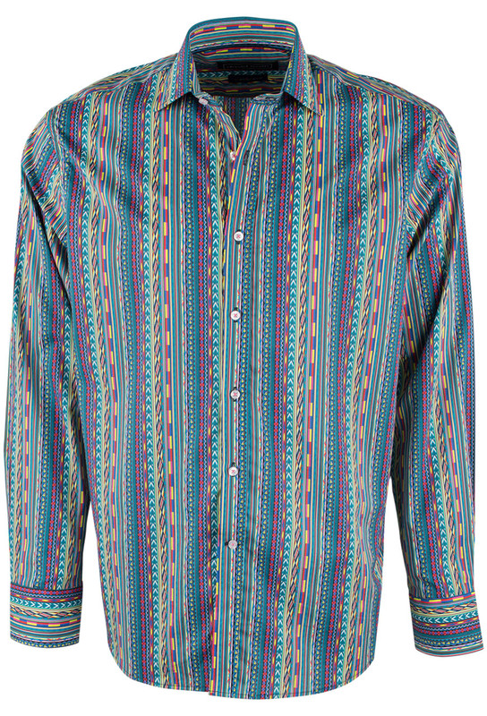 David Smith Australia Mirage Reflection Print Shirt - Front