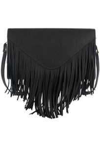 Kelly Tooke Mountain Fringe Crossbody - Black Front