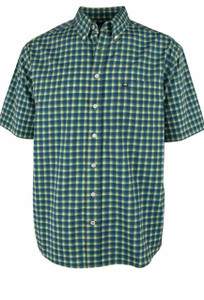 Cinch ArenaFlex Multi Check Print Short Sleeve Shirt