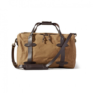 Filson Medium Duffle Bag - Tan Front