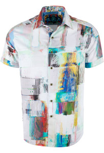 Robert Graham Short Sleeve Tithai Beach White Shirt Front