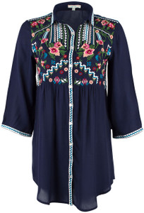 Kyla Seo Mariana Embroidered Top - Front