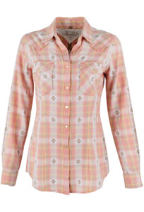 Ryan Michael Ombre Dobby Plaid Shirt - Chile - Front