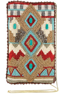 Mary Frances Turquoise Power Cell Phone Glasses Pouch