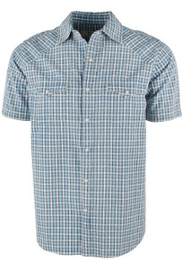 Ryan Michael Teal Arrow Dobby Plaid - Teal - Front