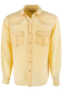 Ryan Michael Split Rail Solid Snap Shirt - Sun - Front