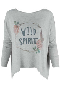 Pajamas - Wild Spirit Long Sleeve Crew Shirt - Front