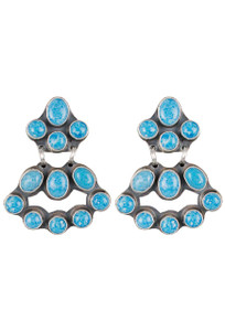 Rocki Gorman Denim Lapis Mini Chandelier Earrings