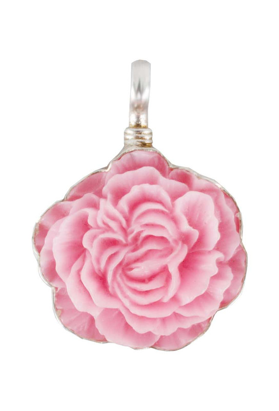 Coreen Cordova Small Pink Flower Charm