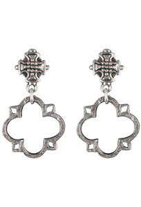 Julio Designs Silver Clover Earrings
