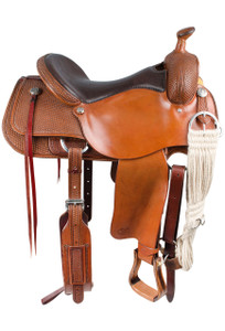 Pinto Ranch Ranch Cutting Western Saddle - Side