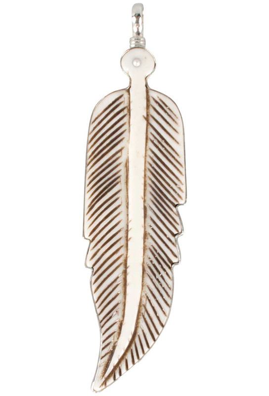 Coreen Cordova Ivory Feather Charm