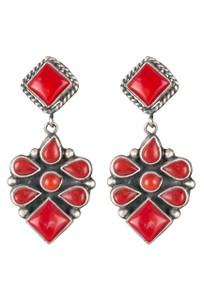 Rocki Gorman Red Coral Margarita Earrings