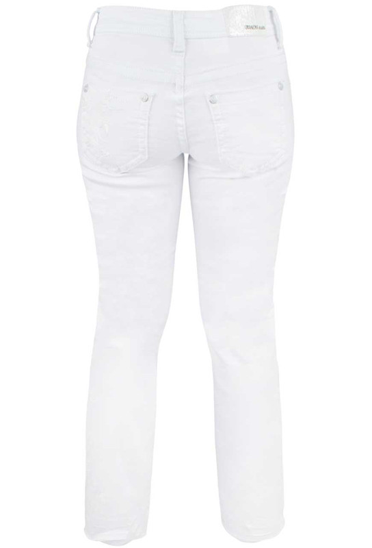 Grace in L.A. Junior White Embroidered Bootcut Jeans - Pinto Ranch