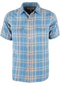 Ryan Michael Short Sleeve Dobby Plaid - Sky