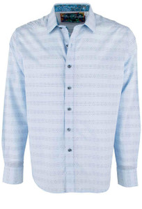 Robert Graham Light Blue Dev Sport Shirt