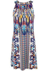 Isle Island Tribes Keyhole Dress - Front