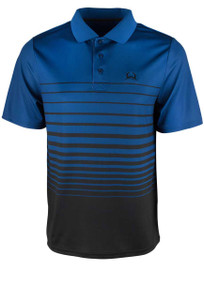 Cinch ArenaFlex Blue and Black Gradient Stripe Polo Shirt