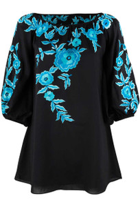 Vintage Collection Black Faith Tunic - Front