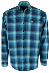 Cinch Blue Classic Plaid Shirt - Front