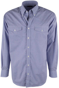 Pinto Ranch YY Collection Purple Mini Check Shirt - Front