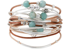 WTW Designs Amazonite and Sterling Silver Bracelet