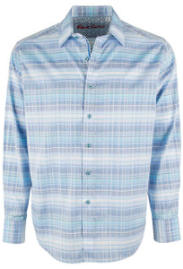 Robert Graham East of Eden Blue Shirt - Front