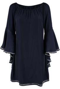 Union of Angels Tatiana Bell Sleeve Dress - Front