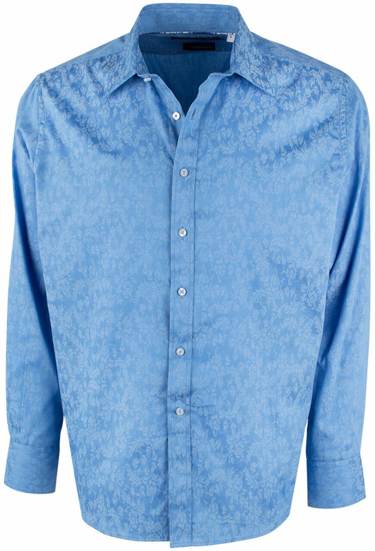 David Smith Australia Denim Jacquard Shirt - Front