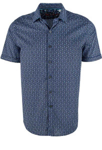 Robert Graham Short Sleeve Blue Gardena Shirt