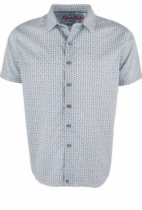 Robert Graham Short Sleeve White Downey Shirt