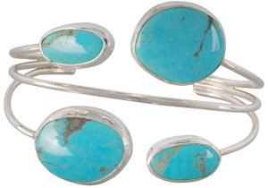 Turquoise Moon 4 Stone Lightweight Cuff - Front