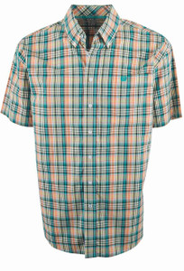 Cinch Multi Check Plain Weave Short Sleeve Shirt