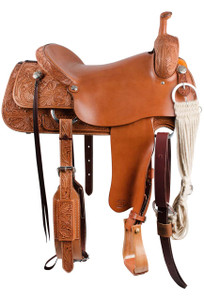 Pinto Ranch Cutting Western Saddle - Side